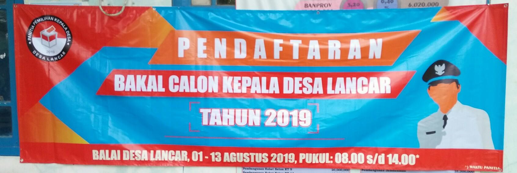 Pendaftaran Bakal Calon Kepala Desa
